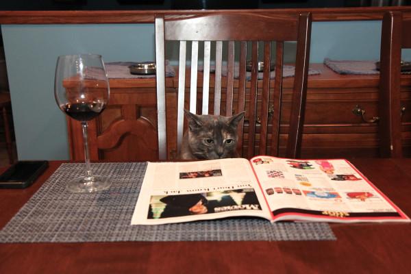 Athena reading Rolling Stone
