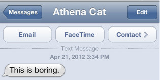Text from Cat: Better Nature