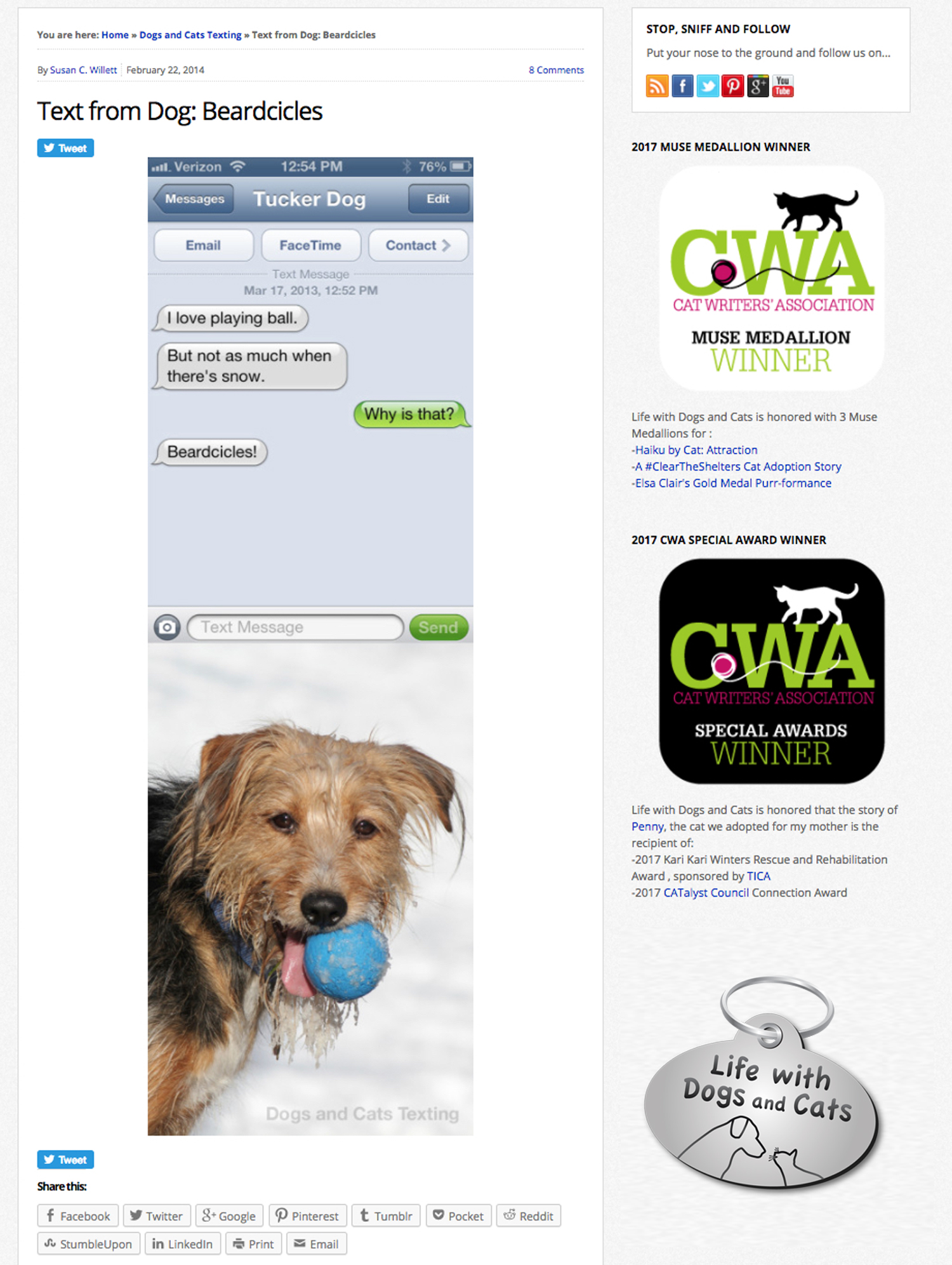 Text from Dog: Beardcicles on Life with Dogs and Cats