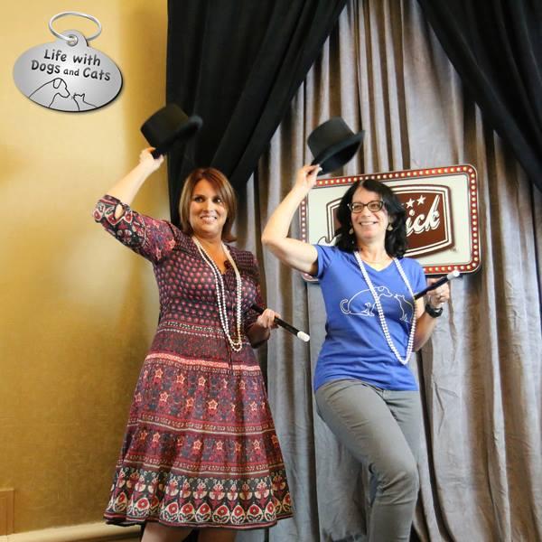 Susan C. Willett and Belinda Jones at the Merrick Pet Care Booth BlogPaws 2016
