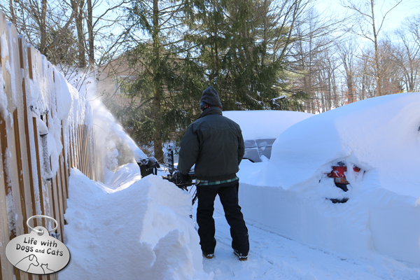 The digout begins; my husband starts on the driveway