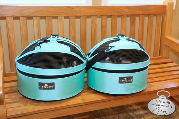 Calvin and Elsa Clair in their Sleepypods.