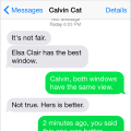 Text from Cat: Rule #21 Whatever the other cat has is the best one