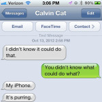 Text from Cat: It's purring