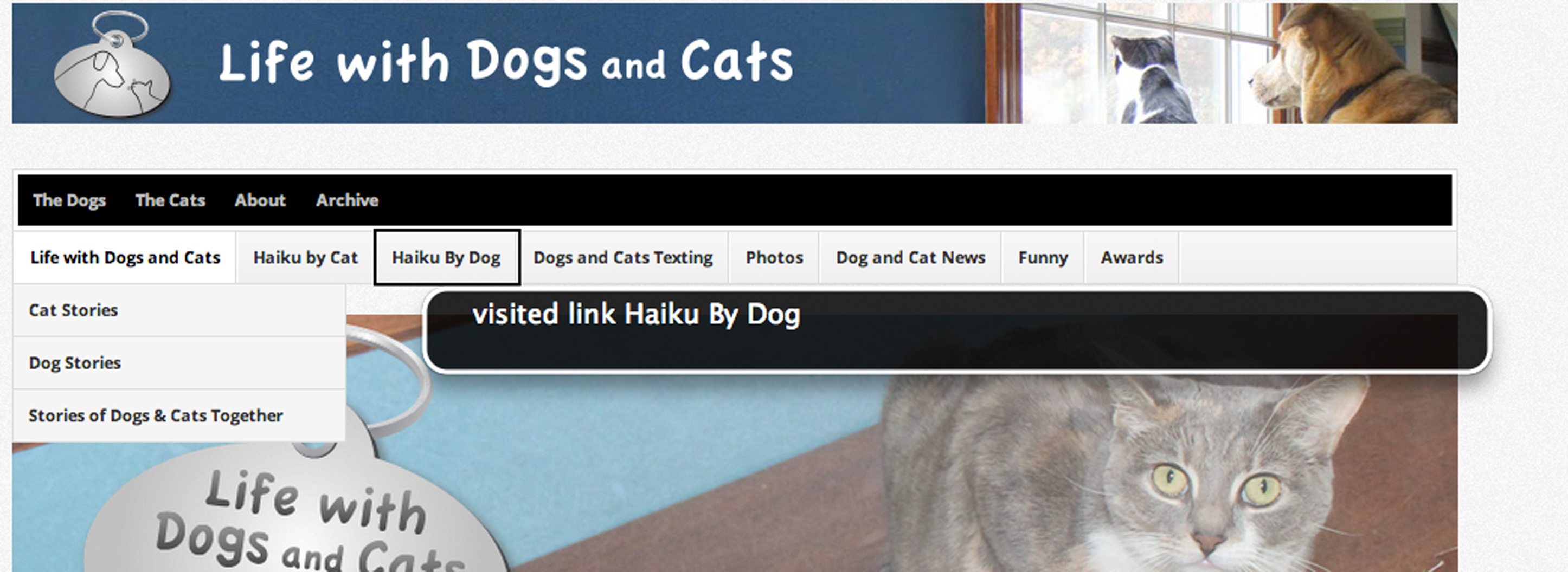 Oh look, I visited my own website.