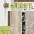 3 dog noses on the cover of Ruff Drafts magazine