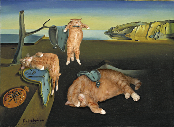 Salvador Dali The Persistence of Memory fat cat art