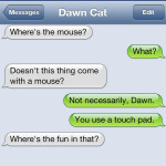 Text from Cat: Where's the mouse?