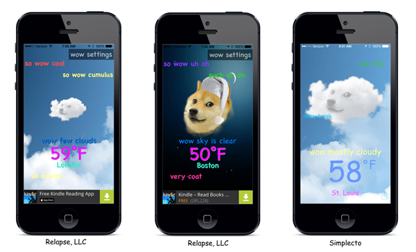 Doge weather apps