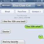 Text from Cat: Everybody loves Doctor Who