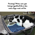 Haiku by Cat: Packing? Make sure you / bring important items like / mouse toys and cat fur.