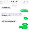 Elsa Clair text rule stairs