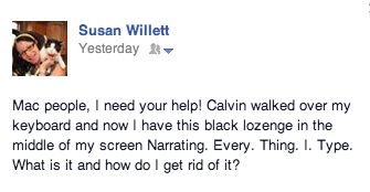 Sometimes, you have to turn to your Facebook friends for help.