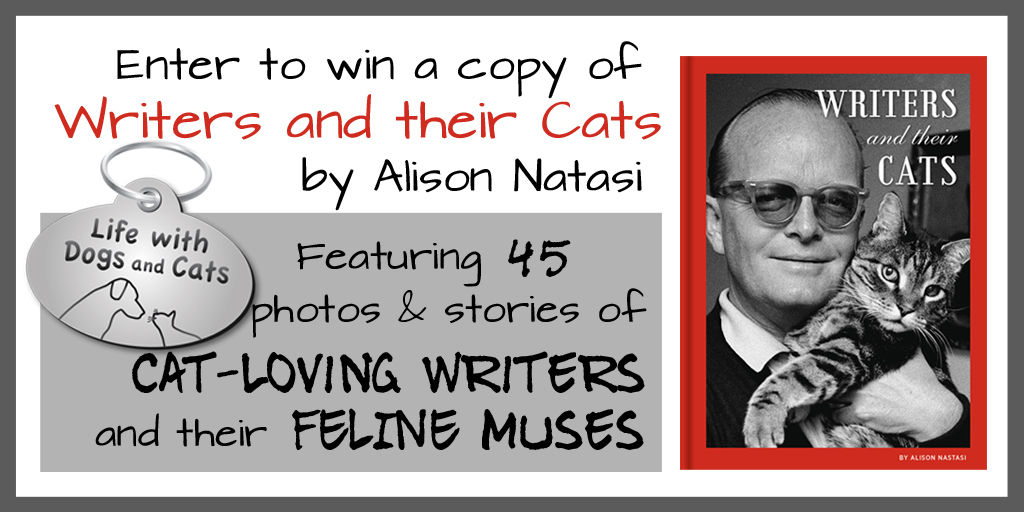 Enter to win a copy of Writers and Their Cats by Alison Nastasi from Life With Dogs and Cats