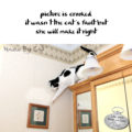 #HaikuByCat #NationalPoetryMonth picture is crooked / it wasn't the cat's fault but / she will make it right