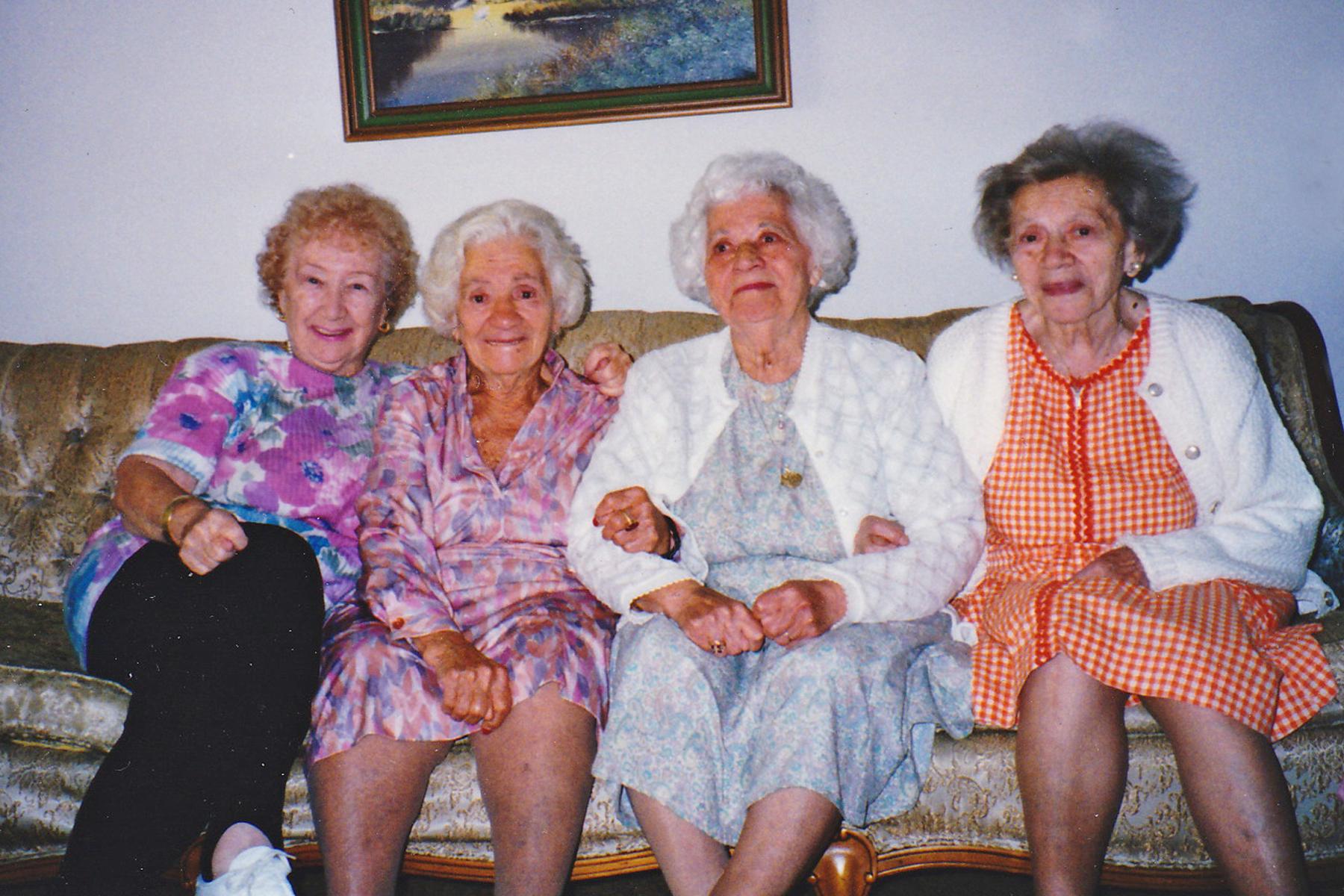 Four sisters: Helen, Bessie, Gussie, Rose
