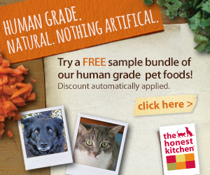 Free sample of Honest Kitchen dog or cat food