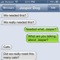 Text from dog: Do we really need this many cats?