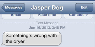 Text from Dog: Things That Go Bump in the Day