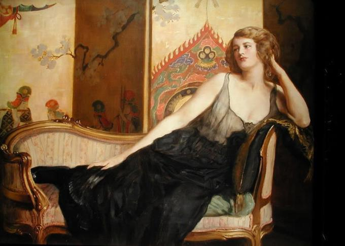 Reclining Woman by John Collier (Available via public domain)