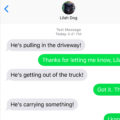 #TextFromDog He's pulling in the driveway! He's getting out of the truck! Me: Got it. Thx. It's the UPS guy. Dog: He's coming up the walkway! Me: Thanks for the play-by-play