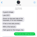 #TextFromDog A good vintage. Late 2017. Grown on the east side of the mountain, if I'm not mistaken. Me: What are you talking about? Dog: Humans are connoisseurs of wine. Dogs are connoisseurs of sticks.