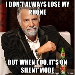 I don't always, but when I do...