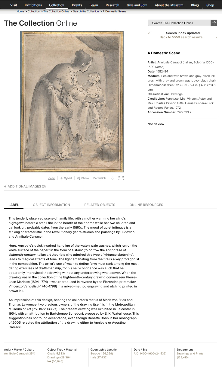 A Domestic Scene by Annibale Carracci, explained on a page from the Met's website.