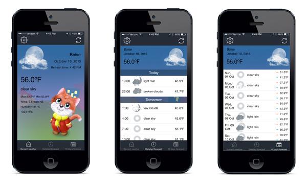 Meteo Cat weather app
