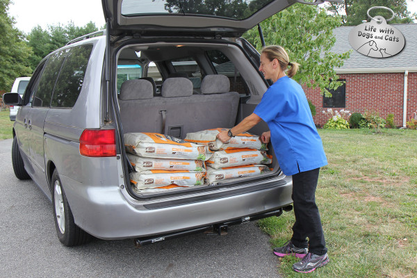 "Nancy Gedbaw (NEED TITLE) is thrilled with the donation. ""We were down to our last three bags of food,"" she said. "" This was perfect timing."