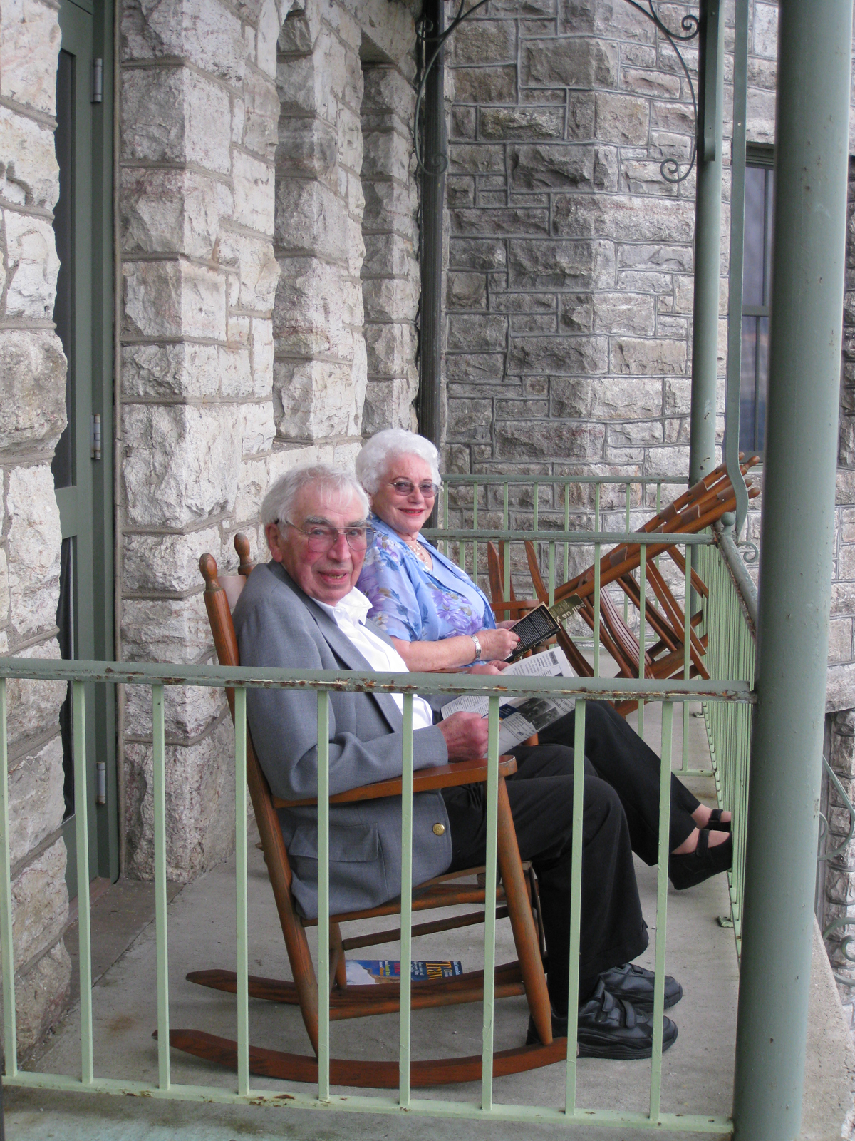 Norm Bev rocking chair Mohonk