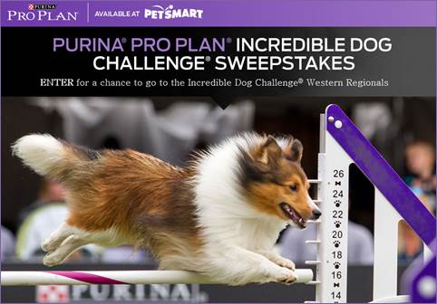 Purina Pro Plan Incredible Dog Challenge Sweepstakes