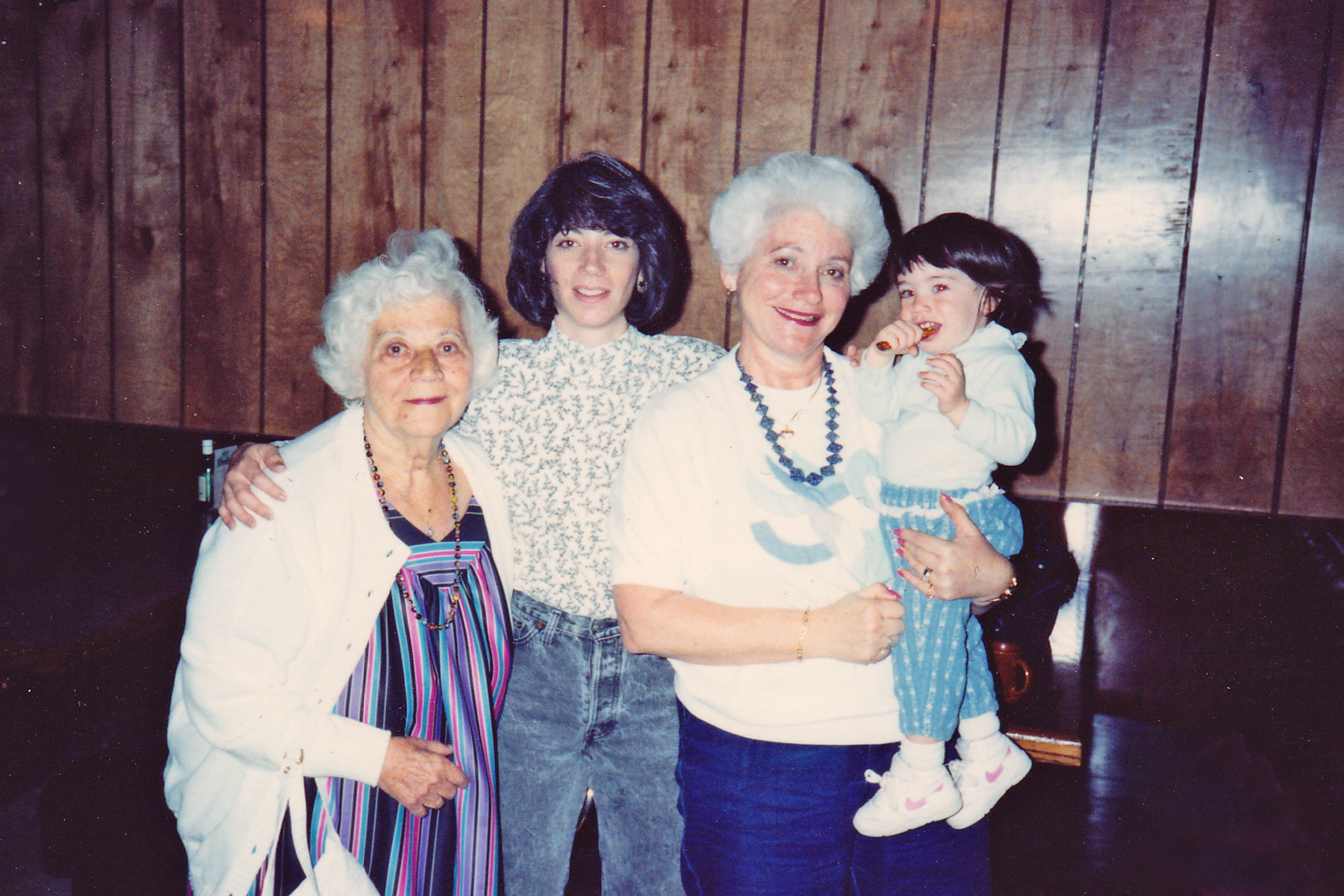 Four generations of women: My grandmother, me, my mom and my daughter