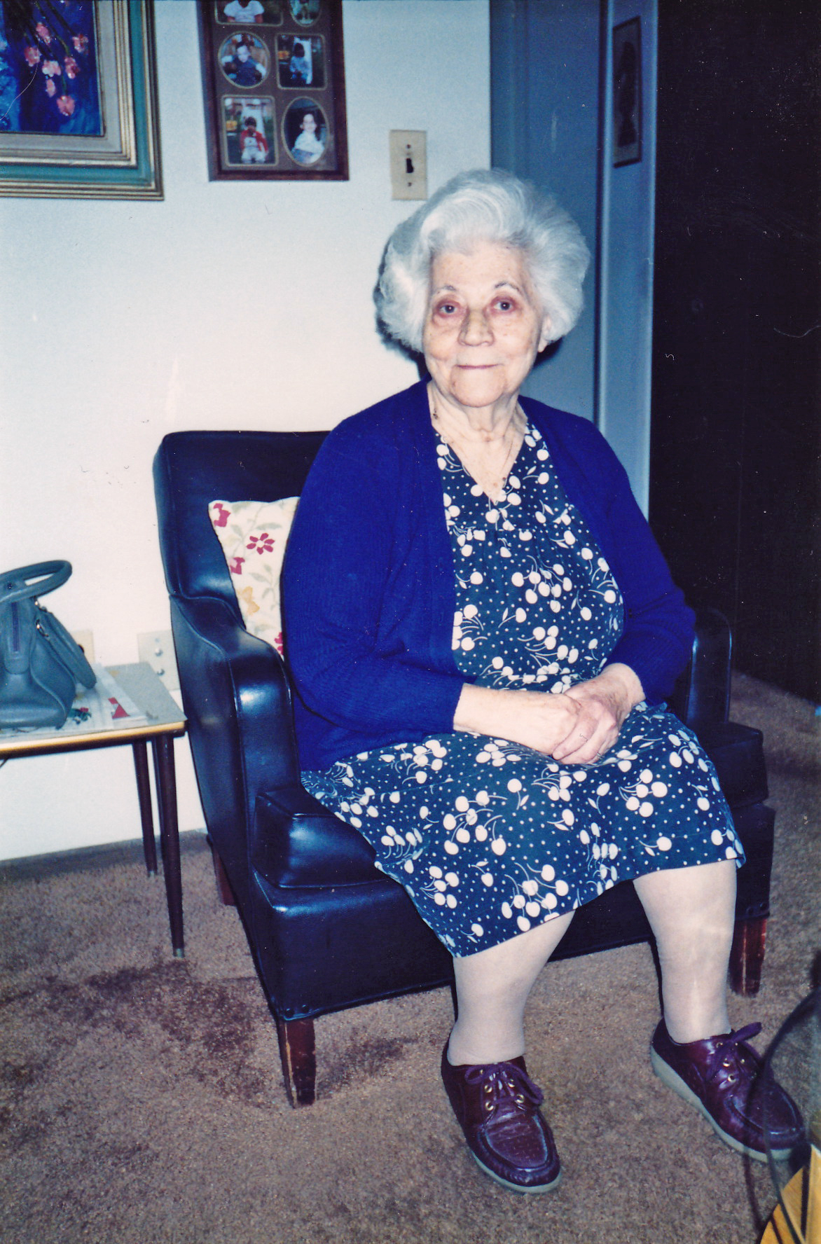 My grandmother, in her apartment.