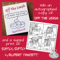 Enter to win a personally autographed copy of Rupert Fawcett's book Off The Leash and a signed print.