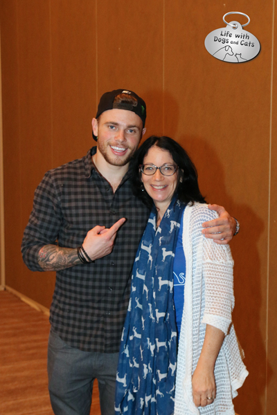 Me and Gus Kenworthy!, Olympic silver medalist and Sochi dog rescuer