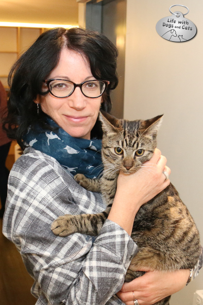 Susan C. Willett of Life with Dogs and Cats at Meow Parlour, with friend