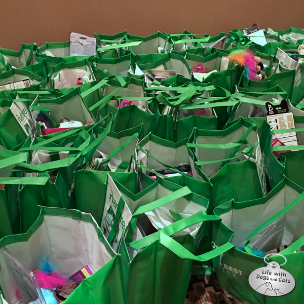These are just the CWA swag bags. There was a whole other bag o' swag from BlogPaws sponsors as well.
