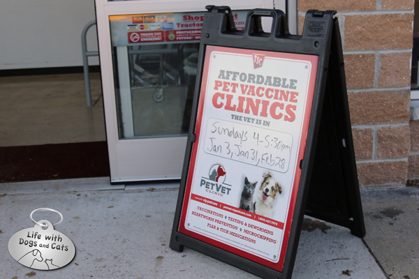 Tractor Supply Company clinic sign