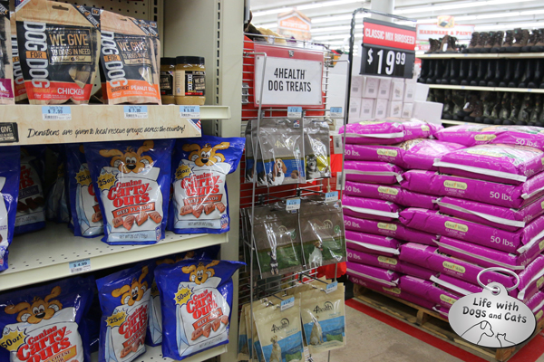 I was especially happy to see Dog for Dog brand treats at Tractor Supply Company