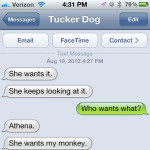 Text from Dog: She wants it