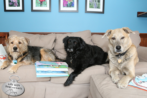 Tucker, Lilah and Jasper with their favorite Dr. Seuss books