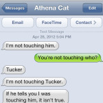 Text from Cat: Touching