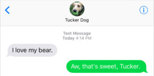 Text from Dog: He can't bear the thought
