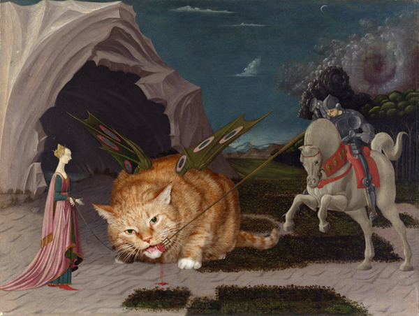 Zarathustra of Fat Cat Art in Paulo Ucello's Saint George and the Dragon