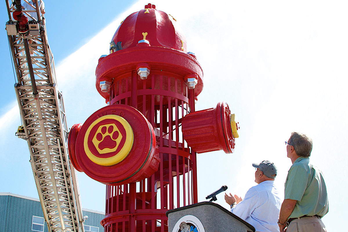 wildwood nj dog beach unveils fire hydrant sculpture life with