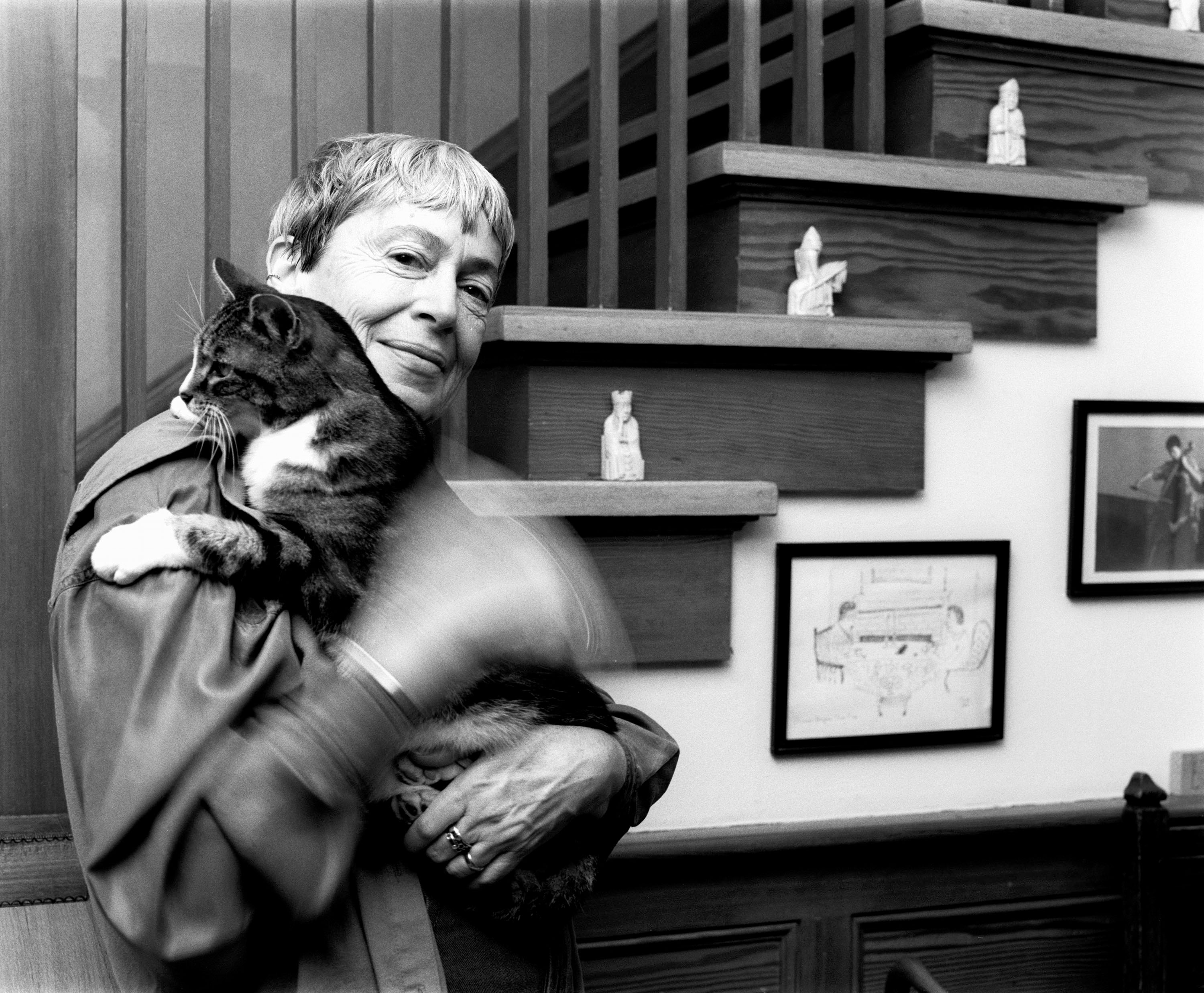 Ursula K. Le Guin and Bonzo, from Writers and their Cats