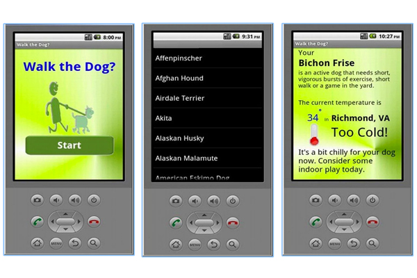 Walk the dog Android app