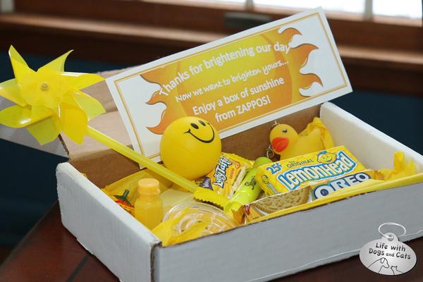Zappos Box of Sunshine