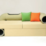 Cat tunnel sofa, like a habitrail for cats